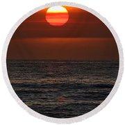 Sandi's Sunset By Diana Sainz Round Beach Towel