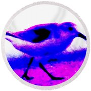 Sandpiper Abstract Round Beach Towel