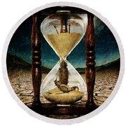 Sands Of Time ... Memento Mori  Round Beach Towel