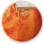 Sandstone Bowl Round Beach Towel by Inge Johnsson