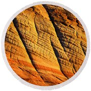 Sandstone Of Time Round Beach Towel