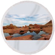 Sandstone Reflections 2 Round Beach Towel