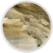 Sandstone Sediment Smoothed And Rounded By Water Round Beach Towel