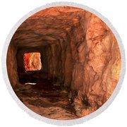 Sandstone Tunnel Round Beach Towel