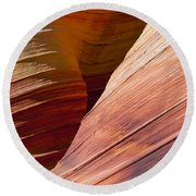 Sandstone Wave Formations Round Beach Towel