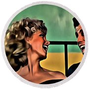 Sandy And Danny Round Beach Towel