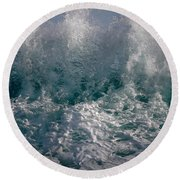 Sandy Beach Backwash Round Beach Towel