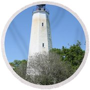 Sandy Hook Lighthouse II Round Beach Towel