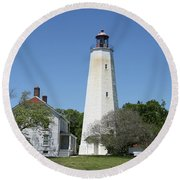 Sandy Hook Lighthouse IIi - N  J Round Beach Towel