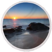 Sandy Hook Sunburst Round Beach Towel