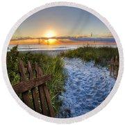 Sandy Trail Round Beach Towel
