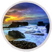 Sandys Early Morning Round Beach Towel