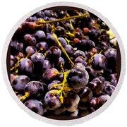 Sangiovese Grapes Round Beach Towel