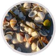 Sanibel Island Shells 4 Round Beach Towel