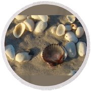 Sanibel Island Shells 5 Round Beach Towel