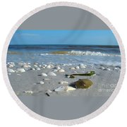 Sanibel Sand Dollar 2 Round Beach Towel