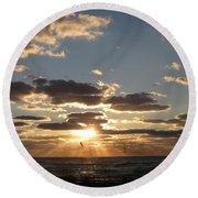 Sanibel Sunset Round Beach Towel