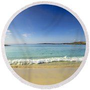 Sanna Bay Ardnamurchan Peninsula Round Beach Towel