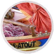 Sans Atout Or No Trump Round Beach Towel