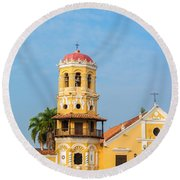 Santa Barbara Church Round Beach Towel