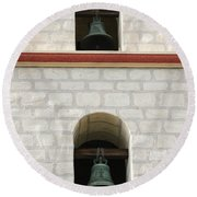 Santa Barbara Mission Bells Round Beach Towel