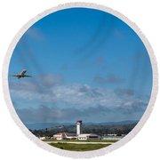 Santa Barbara Takeoff Round Beach Towel