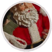 Santa Claus - Antique Ornament - 02 Round Beach Towel