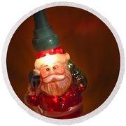 Santa Claus - Antique Ornament - 06 Round Beach Towel by Jill Reger