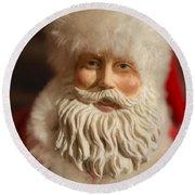 Santa Claus - Antique Ornament - 07 Round Beach Towel
