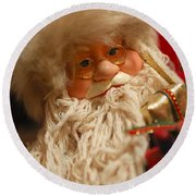Santa Claus - Antique Ornament - 08 Round Beach Towel