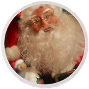 Santa Claus - Antique Ornament - 11 Round Beach Towel by Jill Reger