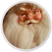 Santa Claus - Antique Ornament - 14 Round Beach Towel
