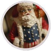 Santa Claus - Antique Ornament - 15 Round Beach Towel
