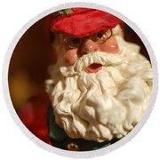 Santa Claus - Antique Ornament - 16 Round Beach Towel