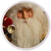 Santa Claus - Antique Ornament - 17 Round Beach Towel by Jill Reger