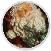 Santa Claus - Antique Ornament - 18 Round Beach Towel