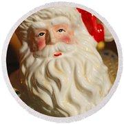 Santa Claus - Antique Ornament - 19 Round Beach Towel