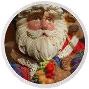 Santa Claus - Antique Ornament - 20 Round Beach Towel by Jill Reger