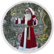 Santa Claus Walt Disney World Oval Round Beach Towel