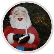 Santa Clause Round Beach Towel