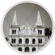 Santa Cruz Basilica In Cochin Round Beach Towel