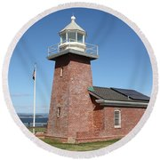 Santa Cruz Lighthouse Surfing Museum California 5d23940 Round Beach Towel