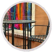 Santa Fe Cafe And Boutique Round Beach Towel