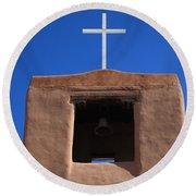 Santa Fe - San Miguel Chapel Round Beach Towel