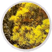 Santa Fe Yellow Round Beach Towel