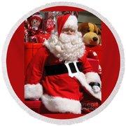 Santa Is Ready Round Beach Towel