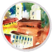 Santa Margherita In Italy 13 Round Beach Towel