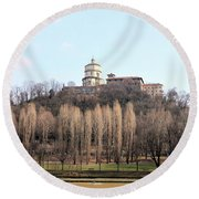 Santa Maria Del Monte Church Round Beach Towel