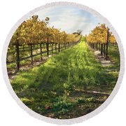 Santa Maria Vineyard Round Beach Towel