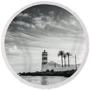 Santa Marta Lighthouse I Round Beach Towel